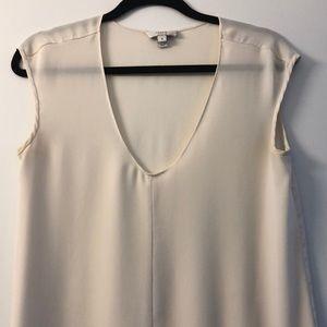 J. Crew Tops - JCREW Ivory Silk Cap Sleeve Top - Size 2